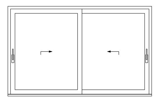 Puertas corredizas de pvc